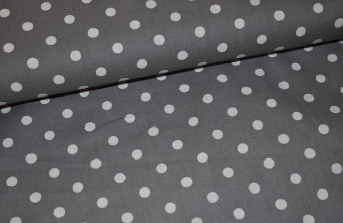 b478436292 Baumwolle Punkte grau weiß, 7mm - Huzelfritz   kreativ & individuell