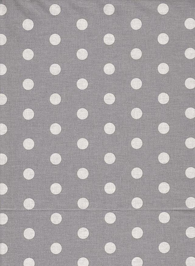 1738e027ad Punkte hellgrau weiß *beschichtet*